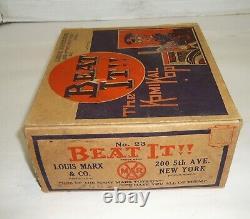 VINTAGE 1930'S MARX BEAT IT! THE KOMIKAL KOP #7 WINDUP TIN TOY WithBOX