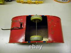 VINTAGE 1930's MARX TIN Toy LITHO WIND-UP STREAMLINED TRAILER LONESOME PINE