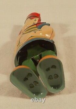 VINTAGE 1930s CHEIN BARNACLE BILL SAILOR TIN LITHOGRAPH WINDUP TOY