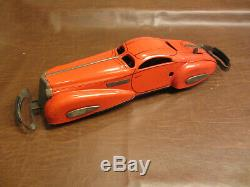 VINTAGE 1930s MARX TOYS REVERSEABLE COUPE LARGE TIN WINDUP TOY CAR