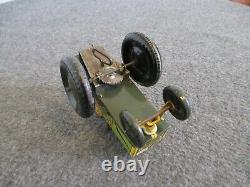VINTAGE 1940s MARX JUMPIN JEEP 22 C WIND-UP TIN TOY VERY GOOD & WORKS