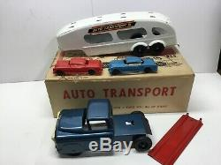 VINTAGE MARX-AUTO TRANSPORT-# 1019 EXC. With ORG BOX-PLAY SET PRESSED STEEL TOY