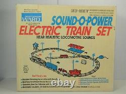 VINTAGE MARX No. 52455 MONTGOMERY WARD SOUND-O-POWER TRAIN SET MINT in OB