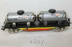 VINTAGE MARX TIN LITHO KANSAS CITY SOUTHERN FLAT With TWIN ALL STATE TANKS #6969