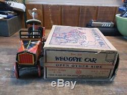 VINTAGE MARX TIN LITHO WINDUP COWBOY WHOOPIE CAR WithORG BOX EXCELLENT CONDITION