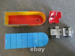 VINTAGE MARX TOYS EAST-WEST & TRI-STATE HAULER TRUCK & TRAILERS With DEPOT BOX