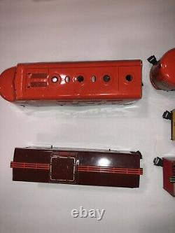 VINTAGE MARX Train Metal Tin 6000 O GAUGE SOUTHERN PACIFIC SET WORKING! With BOX