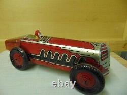 VINTAGE MARX circa1930-40s TIN TOY OPEN WHEEL INDY RACE CAR 13.75