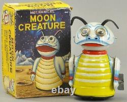 VINTAGE Original Marx TIN LITHO WIND UP MECHANICAL MOON CREATURE BUG With BOX
