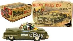 VINTAGE RARE JAPANESE TIN LITHO MARX MILITARY POLICE STAFF CAR With BOX