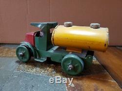 VINTAGE TIN TRUCK WIND-UP TANKER EARLY MARX 1920s LITHO PRESSED STEEL SOLID