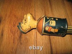 VTG 1930's POPEYE Tin Litho Wind-Up Walking Toy MARX Parrots/Cages Parts Repair