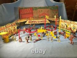 VTG 1950s Marx Super Circus playset (#4320) tin litho 99% complete in box