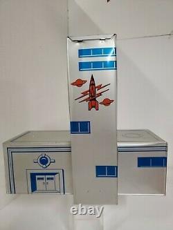 VTG 1950s Marx Tom Corbett or Rex Mars Space Play Set Tin Litho Building RARE
