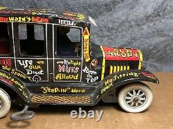 VTG Marx Toys Old Jalopy Tin Wind-Up 1950's Works Very Good Condition