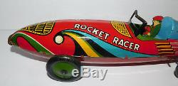 Very Neat Vintage Marx Rocket Racer 16 Long Tin Wind Up Car