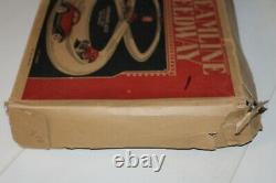 Vintage 1930s MARX TIN MECHANICAL STREAMLINE SPEEDWAY with CARS in ORIGINAL BOX