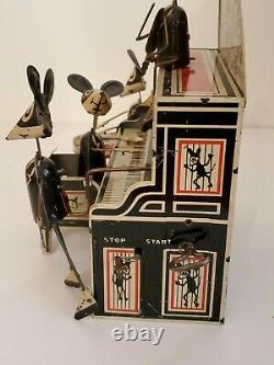 Vintage 1930s MARX TIN WIND UP MERRY MAKERS MOUSE BAND SCARCE VERSION