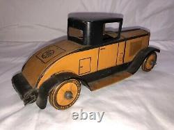 Vintage 1930s Marx Toys Tin Litho Windup Cadillac Coupe Original