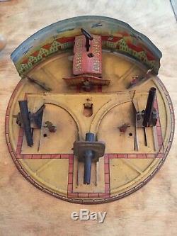 Vintage 1930s Rare Wind up Tin Toy Louis Marx Coast Defense Military Toy