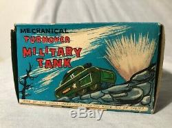 Vintage 1940's Marx Toys Tin Litho Wind Up Tank with Original Box Works Great