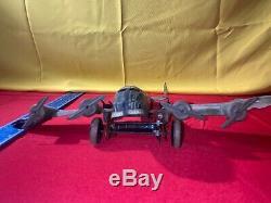 Vintage 1940s Marx Tin Litho Army Military Plane Airplane Toy Camo 65A