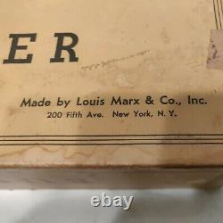 Vintage 1950's Louis Marx Busy Miners Tin Litho Wind-Up Toy, No Ore Car. Working