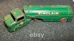 Vintage 1950's MARX SINCLAIR POWER-X Super Fuel Tin Tank Truck 18 Inches