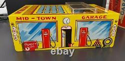 Vintage 1950's Marx Automatic Car Wash Garage Tin Litho With Original Box EX