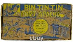 Vintage 1950's Marx Rin Tin Tin Fort Apache 7th Cavalry Play Set withBags & Box