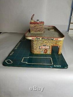 Vintage 1950's Marx Service Center Tin Play Set