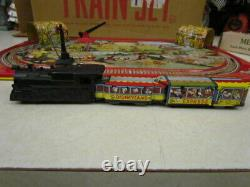 Vintage 1950's Marx Tin Lithograph Disneyland Express Wind Up Train Set in OB