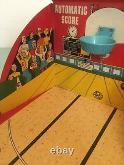 Vintage! 1950's Marx Toys All Star Basketball Tin Metal Game WithBox Mark-O-Matic