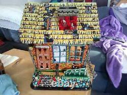 Vintage 1950s Hootin Hollow Haunted House Battery Operated Toy Marx