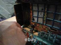Vintage 1950s Hootin Hollow Haunted House Battery Operated Toy Marx DOESN'T WORK