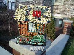 Vintage 1950s Hootin Hollow Haunted House Battery Operated Toy Marx WORKING