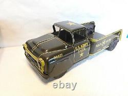 Vintage 1950s Marx Lumar Us Army Hdq 5th Division Truck Pressed Tin Litho