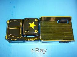 Vintage 1950s Marx Lumar Us Army Hdq 5th Division Truck Pressed Tin Litho Nmib