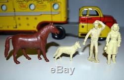 Vintage 1950s Marx Roy Rogers Tin Dodge Truck Playset & Accessories