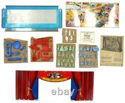 Vintage 1953 Marx Walt Disney Television Playhouse Tin Theater Playset EX withBox