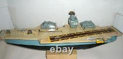 Vintage 1960's Japan Tin Battery Op. Marx Aircraft Carrier