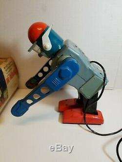 Vintage 1960s Marx Mr. Mercury Ultra Rare Walks & Bows! Japan Tin Toy Robot