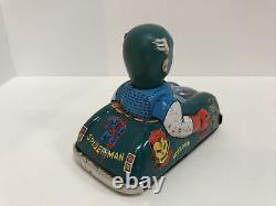 Vintage 1966 MARX Tin Friction Captain America Marvel Car, HULK, Spiderman RARE