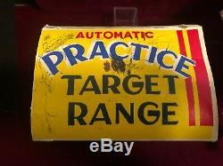 Vintage 50's Marx Practice Target Range Shooting Gallery Tin Toy, Box, Works