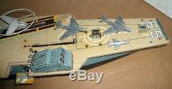 Vintage Battery Op. Japan Tin Marx Aircraft Carrier