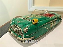 Vintage Dick Tracy Friction Marx Squad Car Large 20