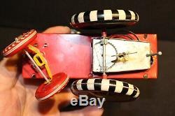 Vintage Disney Donald Duck Dipsy Car Tin Windup Toy Marx