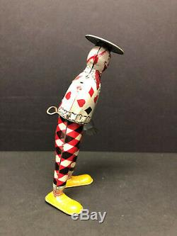 Vintage Ferdinand Strauss Tom Twist the Funny Clown Walker, Tin Litho