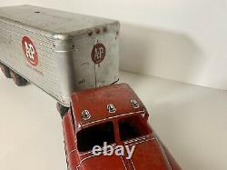 Vintage Large MARX A&P SUPER MARKETS Private Lable Pressed Steel & Tin Truck
