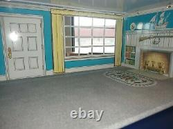 Vintage Large Tin Metal Litho Marx Two Story Colonial Doll House